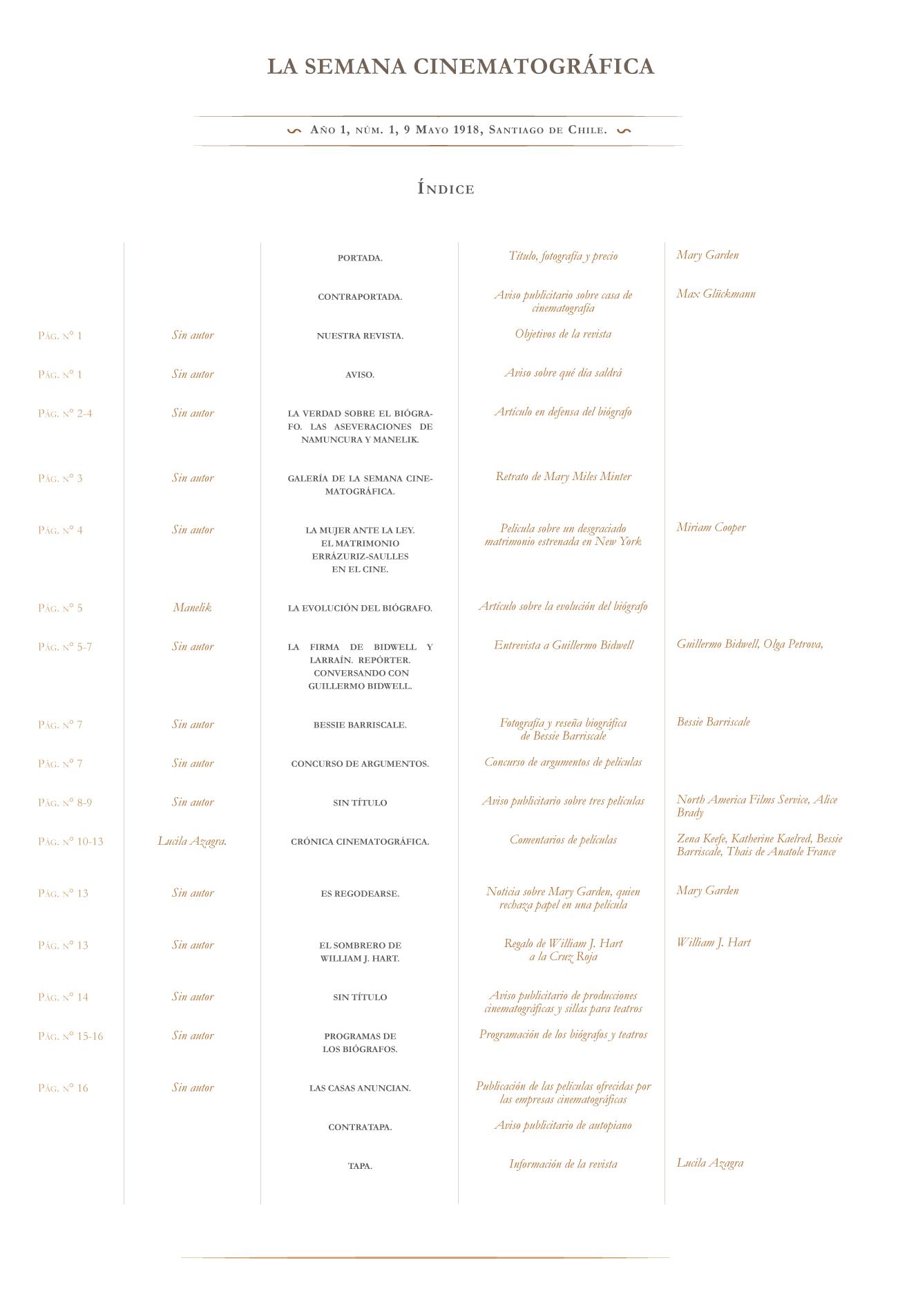 La Semana Cinematográfica nº 1