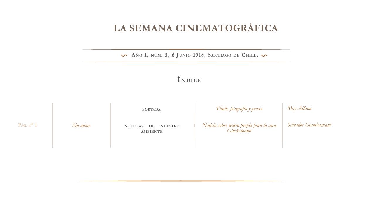 La Semana Cinematográfica nº 5