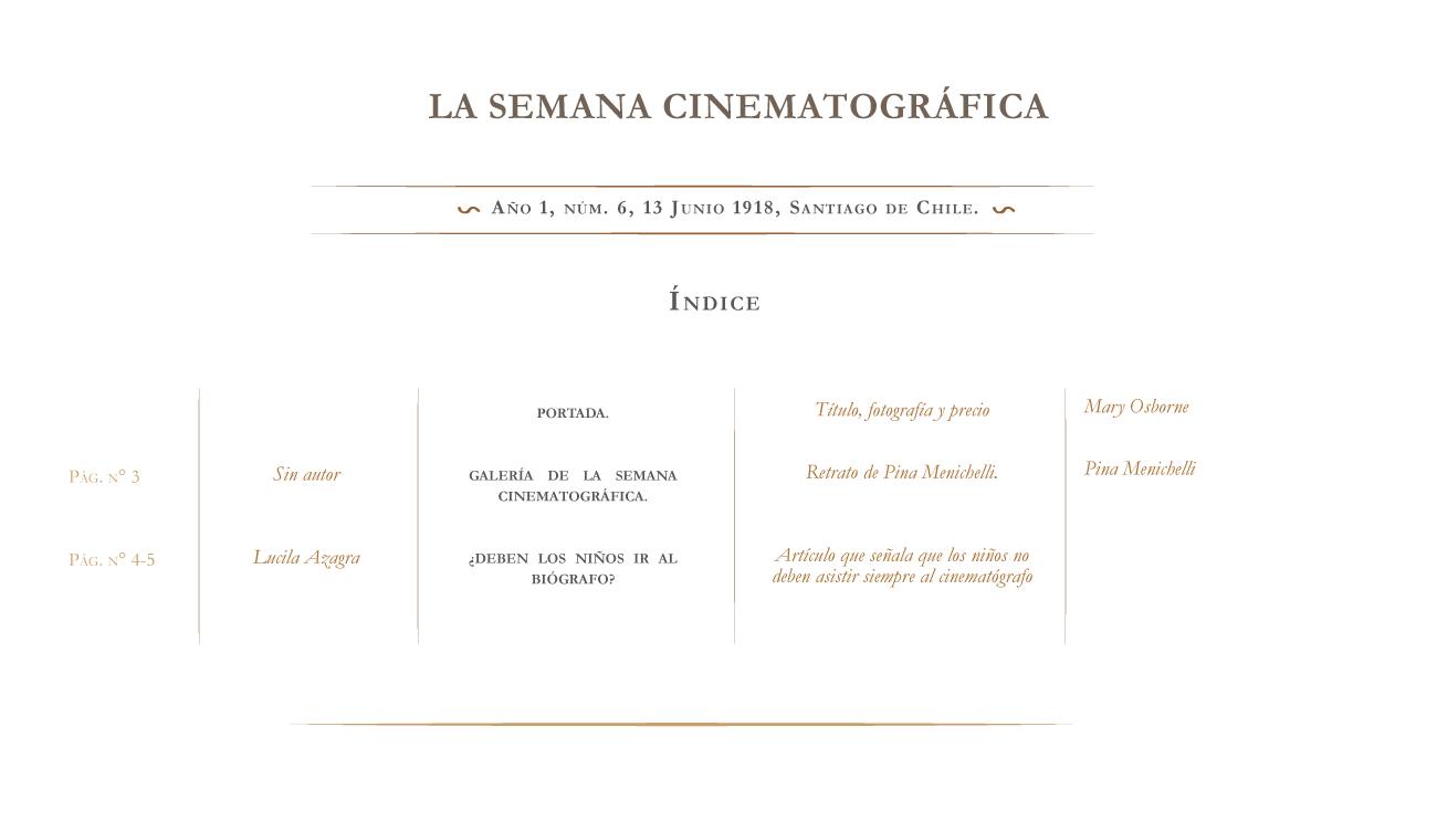 La Semana Cinematográfica nº 6