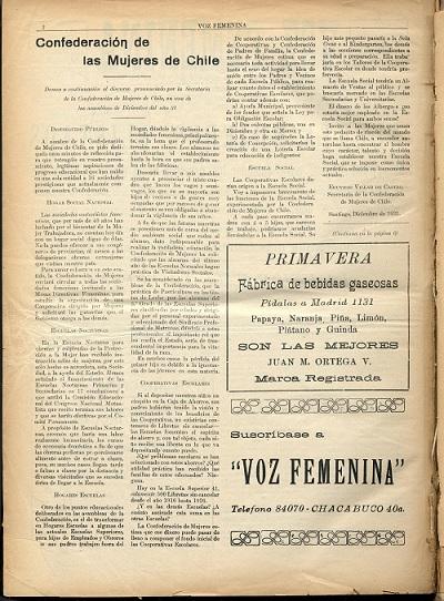 La Voz Femenina nº 1 p. 2
