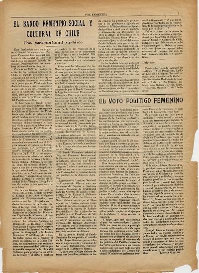 La Voz Femenina nº 1 p. 3