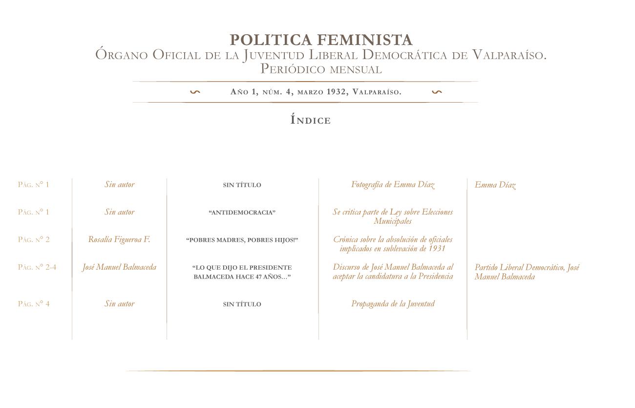 Política Feminista nº 4