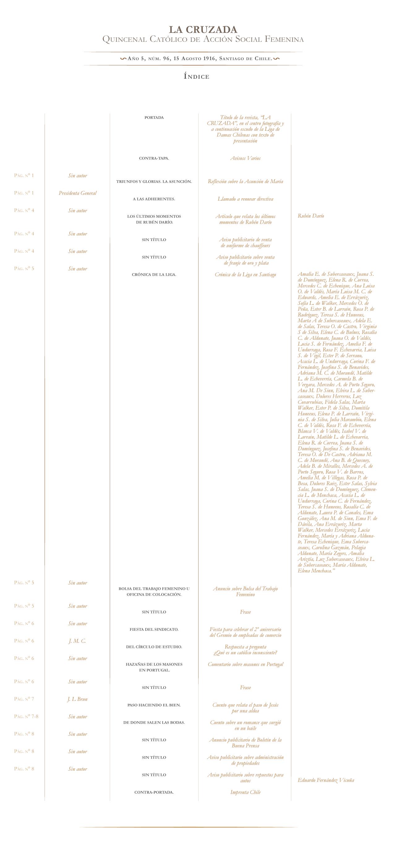 La Cruzada nº 96